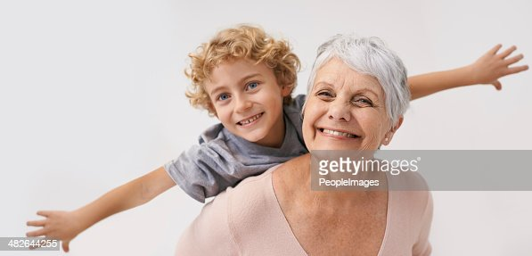 Look Gran, i can fly!