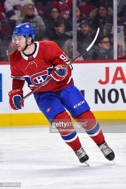 Look on Montreal Canadiens center Jonathan Drouin during the Columbus Blue Jackets versus the Montreal Canadiens game on November 14 at Bell Centre...