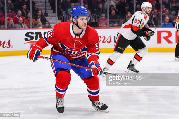 Look on Montreal Canadiens Center Jonathan Drouin during the Ottawa Senators versus the Montreal Canadiens game on November 29 at Bell Centre in...