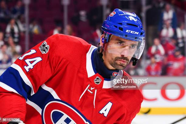 Look on Montreal Canadiens Center Tomas Plekanec during the Toronto Maple Leafs versus the Montreal Canadiens game on October 14 at Bell Centre in...