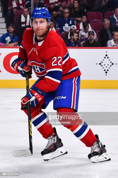 Look on Montreal Canadiens Defenceman Karl Alzner during the Toronto Maple Leafs versus the Montreal Canadiens game on October 14 at Bell Centre in...