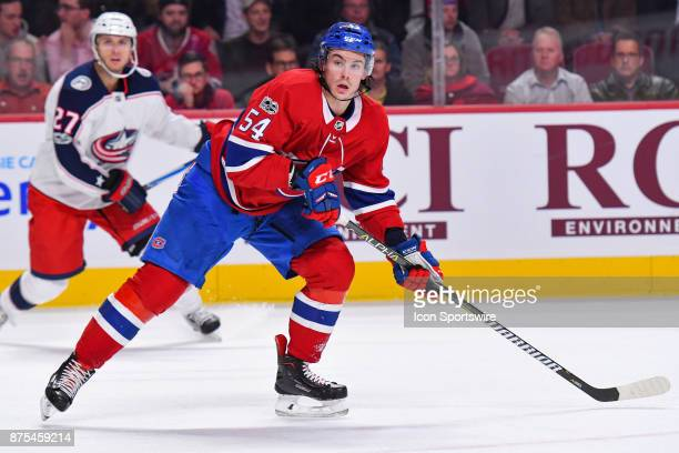Look on Montreal Canadiens left Wing Charles Hudon during the Columbus Blue Jackets versus the Montreal Canadiens game on November 14 at Bell Centre...