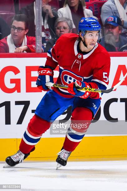 Look on Montreal Canadiens Left Wing Charles Hudon during the Toronto Maple Leafs versus the Montreal Canadiens game on October 14 at Bell Centre in...