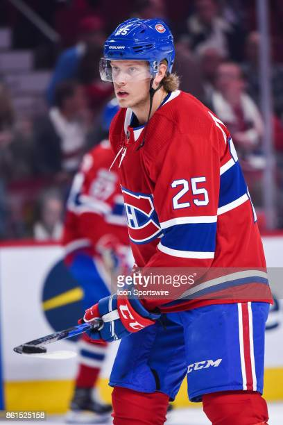 Look on Montreal Canadiens Left Wing Jacob De La Rose during the Toronto Maple Leafs versus the Montreal Canadiens game on October 14 at Bell Centre...