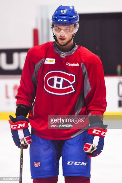 Look on Montreal Canadiens Rookie defenseman Simon Bourque during the Montreal Canadiens Development Camp on July 4 at Bell Sports Complex in...