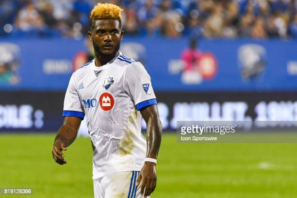 Look on Montreal Impact forward Michael Salazar during the Philadelphia Union versus the Montreal Impact game on July 19 at Stade Saputo in Montreal...