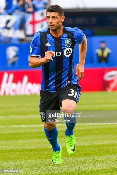 Look on Montreal Impact midfielder Belrim Dzemaili running on the field during the Columbus Crew FC versus the Montreal Impact game on May 13 at...