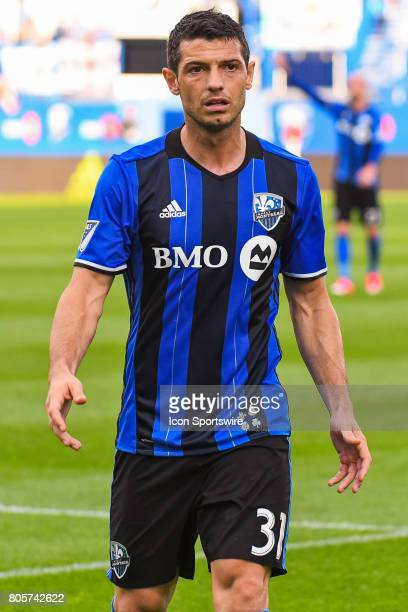 Look on Montreal Impact midfielder Blerim Dzemaili during the DC United versus the Montreal Impact game on July 1 at Stade Saputo in Montreal QC