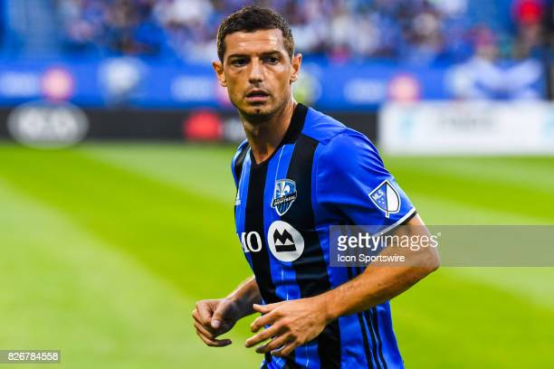 Look on Montreal Impact midfielder Blerim Dzemaili during the Orlando City SC versus the Montreal Impact game on August 5 at Stade Saputo in Montreal...