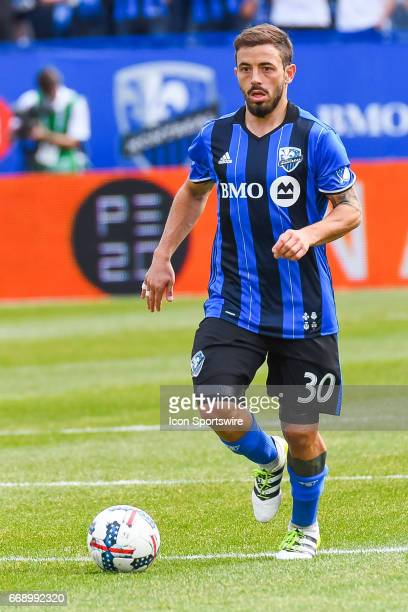 Look on Montreal Impact midfielder Hernan Bernardello with the ball in front of him during the Atlanta United FC versus the Montreal Impact game on...