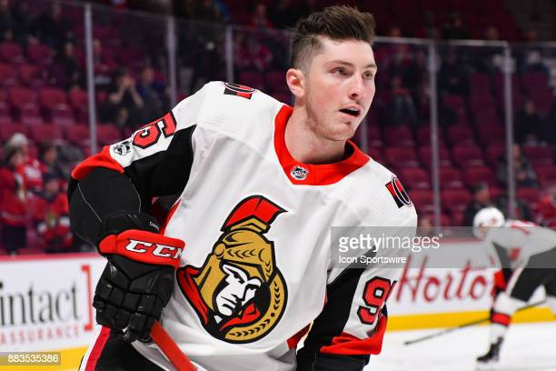 Look on Ottawa Senators Center Matt Duchene at warm up before the Ottawa Senators versus the Montreal Canadiens game on November 29 at Bell Centre in...