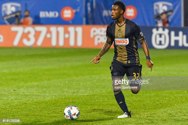 Look on Philadelphia Union defender Giliano Wijnaldum standing on the field with the ball during the Philadelphia Union versus the Montreal Impact...