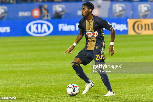 Look on Philadelphia Union midfielder Marcus Epps controlling the ball during the Philadelphia Union versus the Montreal Impact game on July 19 at...