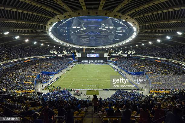Look on sold out Olympic Stadium with 61 004 tickets sold before the Toronto FC versus the Montreal Impact game on November 22 at Olympic Stadium in...