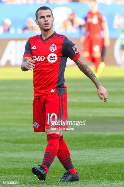 Look on Toronto FC forward Sebastian Giovinco walking on the field during the Toronto FC versus the Montreal Impact game on August 27 at Stade Saputo...