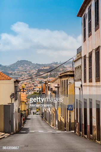 Look onto Funchal from Rua Bela Sao Tiago