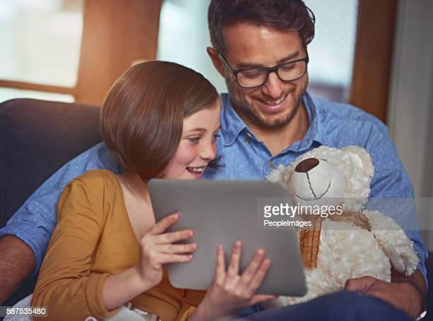 Look Teddy, it's my new tablet