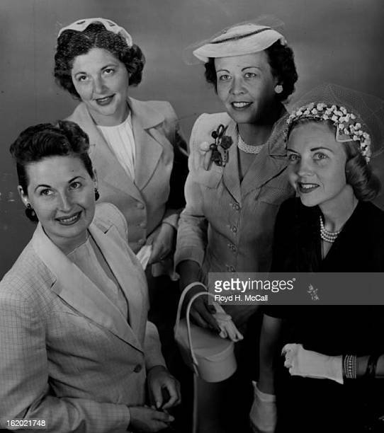 APR 26 1955 MAR 1 1955 Looking ahead to the officers' Wives club fashion show and tea party on May 2 are Mrs Boyd Nethercott Mrs Bertrand Larsen Mrs...