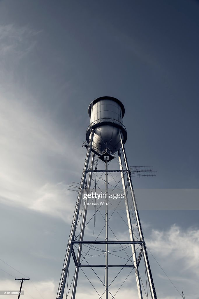 Looking at a water tower
