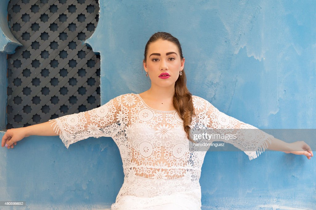 Looking at Camera with red Lips : Stock Photo