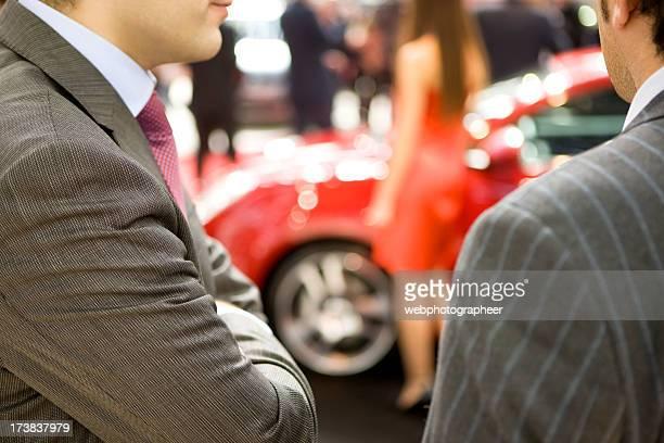 Looking at car