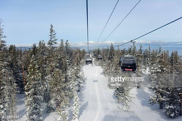 looking at lake tahoe from heavenly ski resort