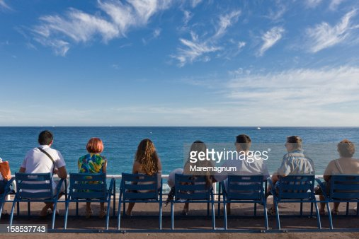 Looking at the sea from the Promenade des Anglais