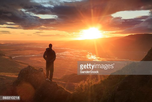 Looking at the sun : Stock Photo