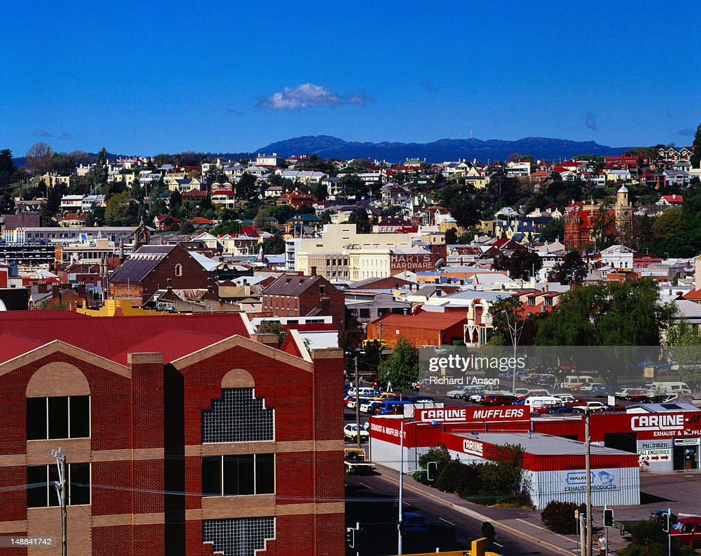 Looking down a street in Launceston - Tasmania