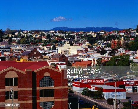 Looking down a street in Launceston - Tasmania