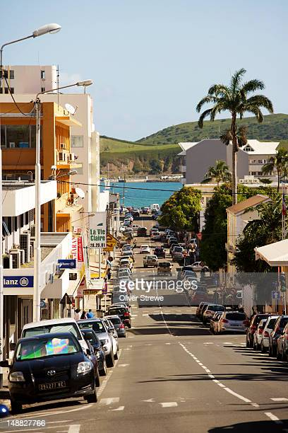 Looking down Noumea street to harbour .