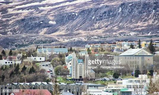 Looking down on Akureyri.