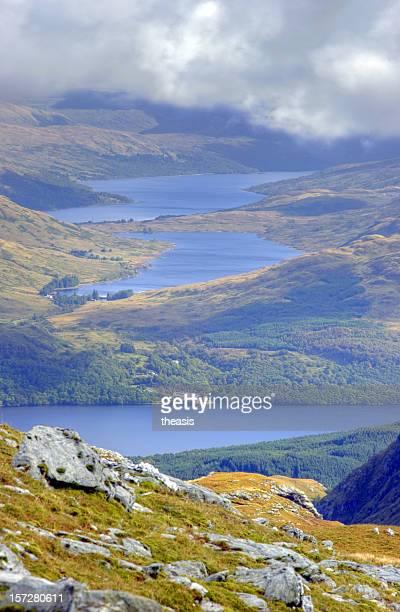 Blick nach unten auf See Loch Lomond