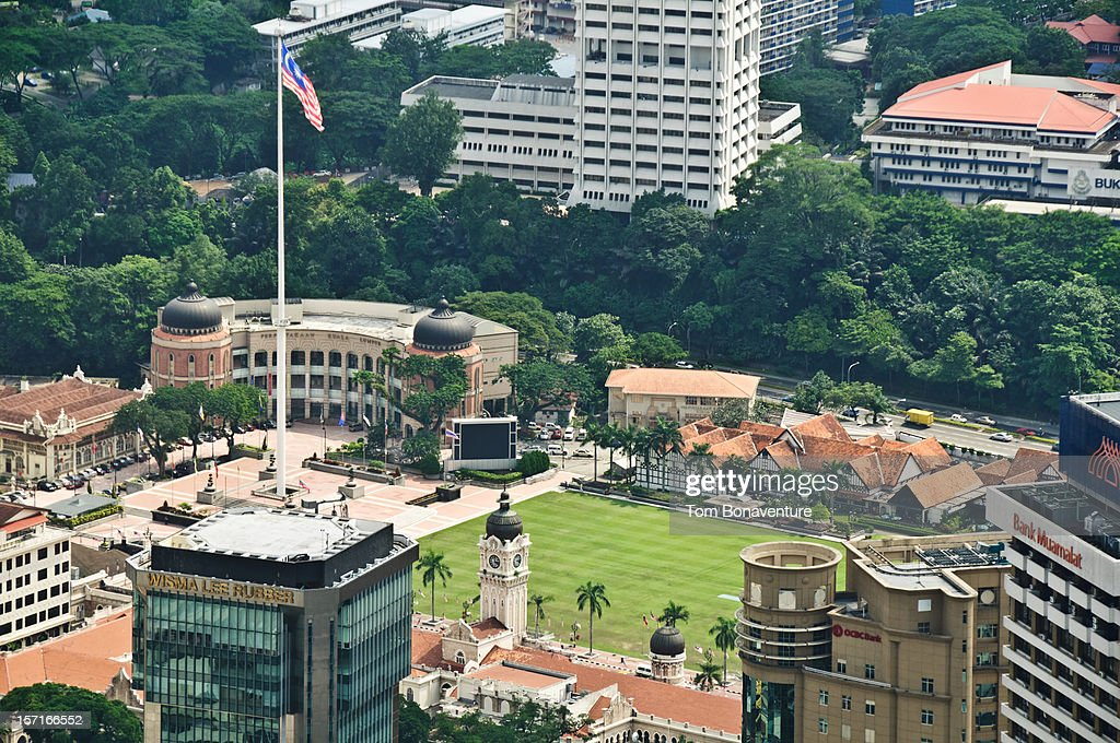 Looking down onto colonial Merdeka Square : Stock Photo