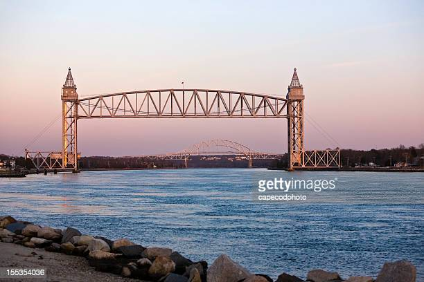Looking down the Cape Cod Canal