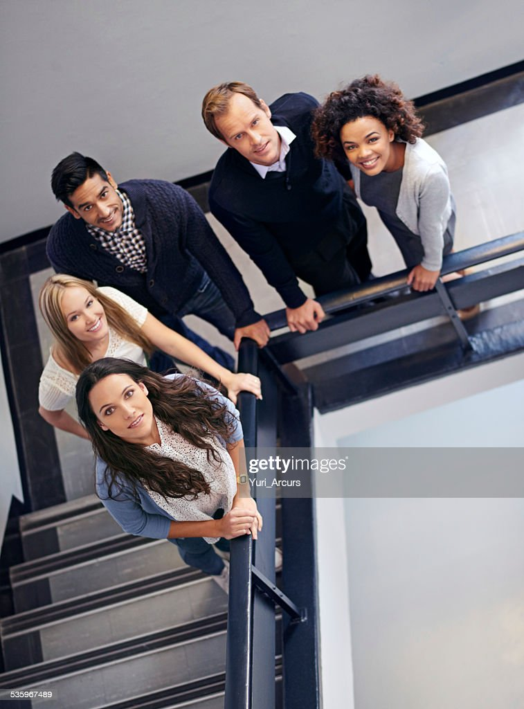 Looking down upon the dream team : Stock Photo