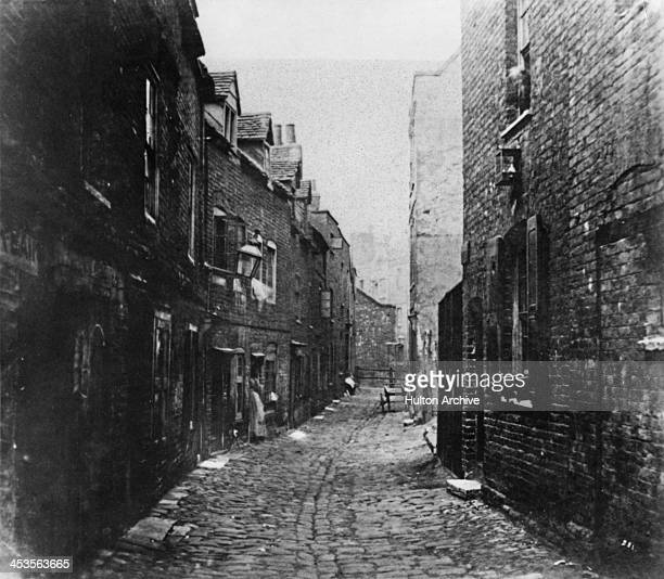 Looking east on Fore Street Lambeth London circa 1860
