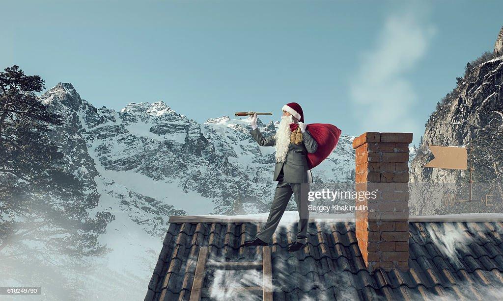 Looking forward for Christmas . Mixed media : Foto de stock