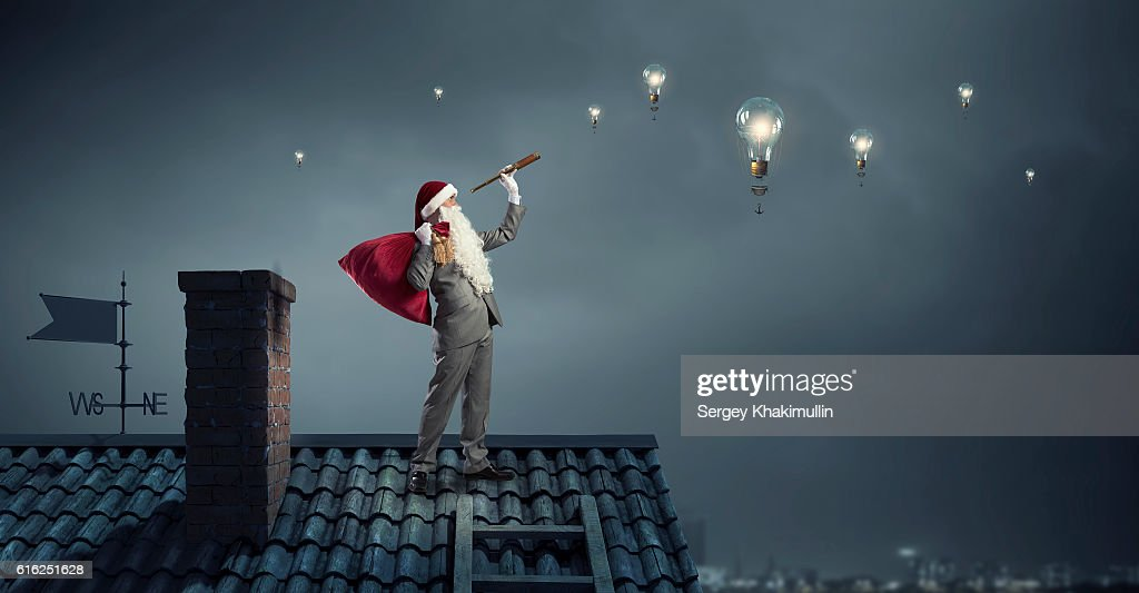 Looking forward for Christmas . Mixed media : Stock Photo