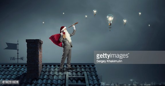 Looking forward for Christmas . Mixed media : Stock Photo