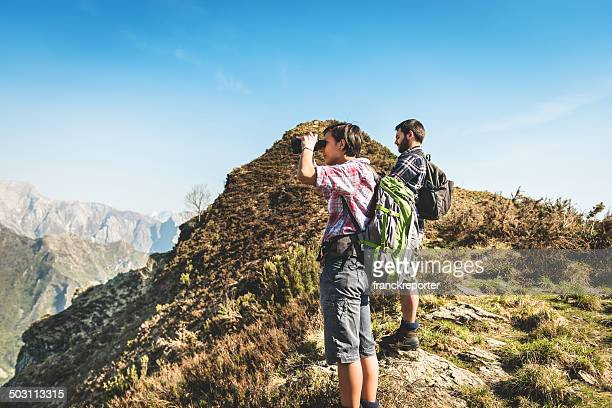 Freuen Sie sich auf die Berge