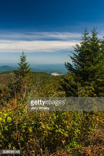 Looking Glass Rock, Pisgah NF : Foto de stock