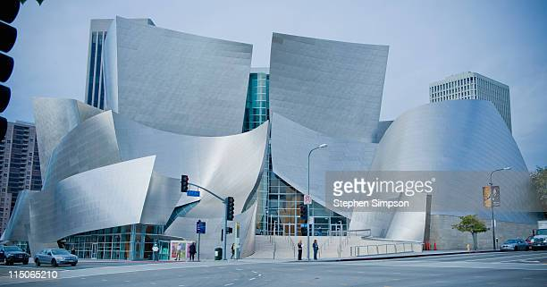 looking northwest, the Disney Concert Hall