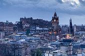 Looking onto the Royal Mile in Edinburgh, Scotland