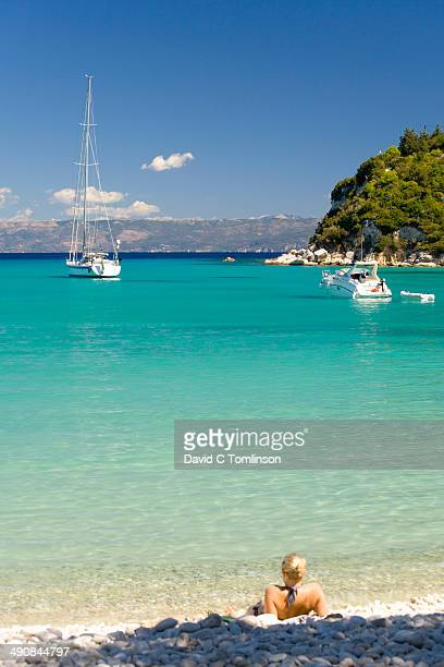 Looking out across the bay, Lakka, Paxos, Greece