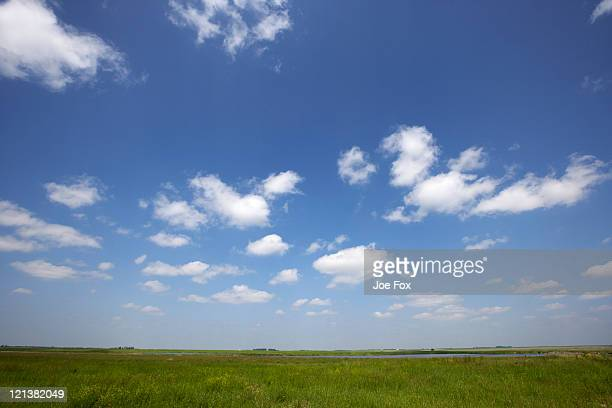 looking out over prairie lands Manitoba Canada