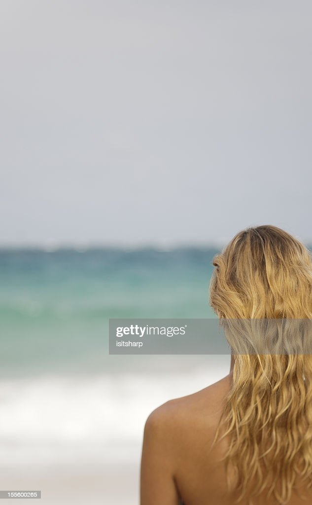 Looking out to Sea : Stock Photo