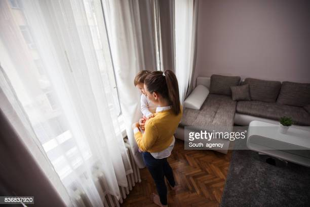 Looking outside together