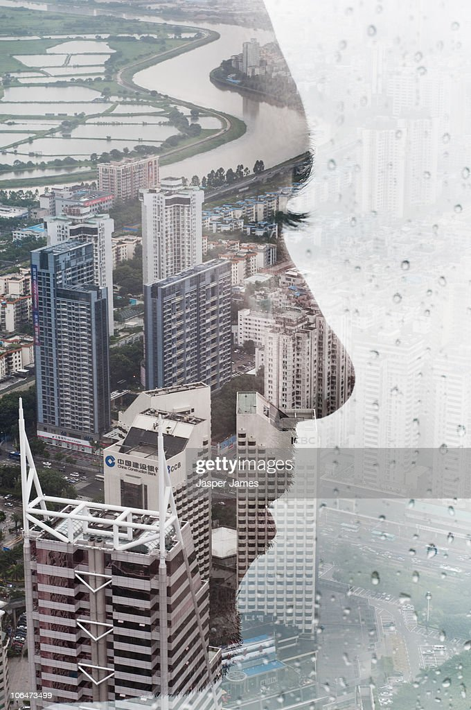 Looking over shenzhen : Stock Photo