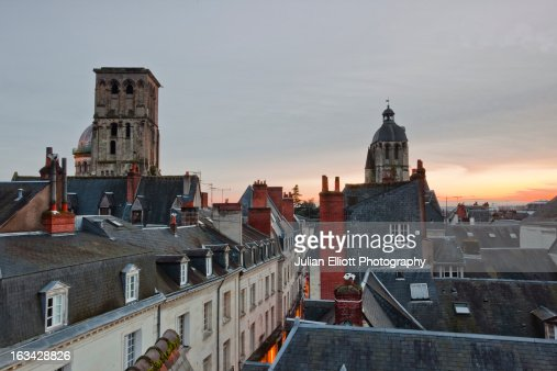 Looking over the rooftops of Old Tours.